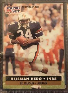 1991 Pro Set Heisman Hero Bo Jackson 45 Raiders Near Mint Combined s Amp H | eBay