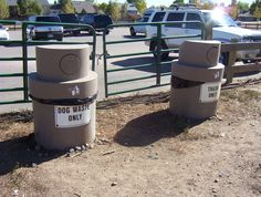 Some parks like Big Dry Creek in Westminster, collect dog waste in in-ground units that contain long bags suspended underground.