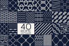 40 Rope Patterns - Big Set by Anastasiia Macaluso on @creativemarket