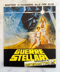 Prima TV Retequattro 13 dicembre 1983 Star Wars, Stars, Sterne, Starwars, Star Wars Art
