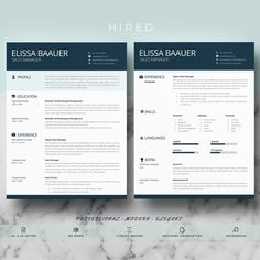 31 Exciting Professional Resume Templates Images