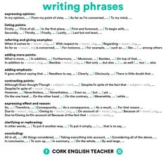 Writing Phrases