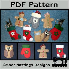 PDF Pattern for Christmas Gift Card Holders - Gift Card Holder Pattern - Silverware Holder Pattern - Tutorial, DIY, $4.95