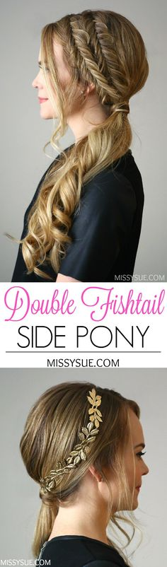 Double Fishtail Side Pony