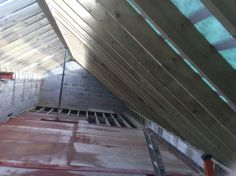 internal structure of a roof in Shirley, Croydon