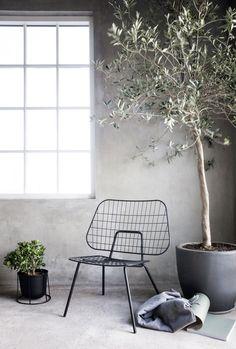 WM String Lounge niedriger Sessel / Stahl - Menu