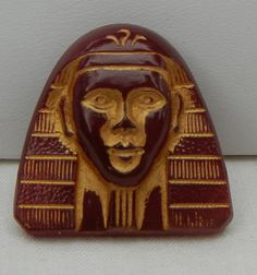Pharaoh Head Czech Glass Button by MostlyButtons on Etsy, $9.00