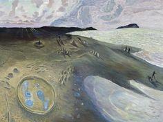 William Robinson - The Jellyfish Ring, 1995 Australian Painters, Australian Artists, Landscape Paintings, Landscapes, Contemporary Landscape, Favorite Words, Jellyfish, Coastal, Ocean