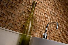 Resultado de imagen para azulejos con cascara de coco