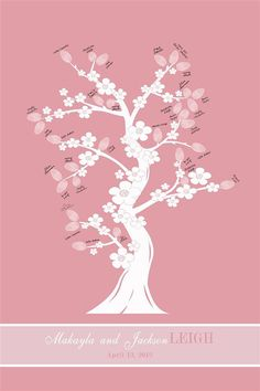 """""""Guest Book"""" Cherry Blossom thumbprint tree..."""