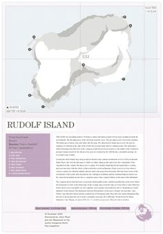 Redesign of: Atlas of Remote Islands - Rudolf Island by Trent Edwards
