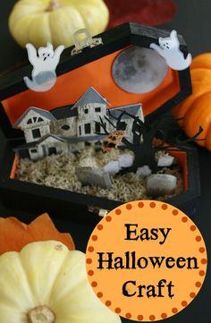 Easy Halloween Craft (For Adults)  Using simple products from your local craft store you too can make this spooky Halloween coffin diorama.