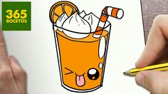 COMO DIBUJAR ZUMO KAWAII PASO A PASO - Dibujos kawaii faciles - How to d...