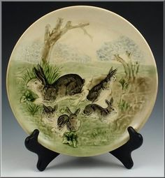 Majolica I Rabbit Plate Series