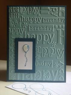 "masculine birthday - Fine Print (not quite navy base & 1-1/2x2-1/2""; baja breeze 4x5-1/4""; whisper white 1x2"")- stampin up card"