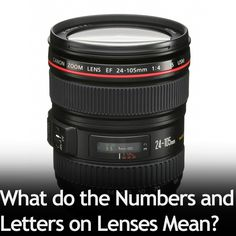 There are lots of numbers and letters on lenses, but what do they mean? It's actually not that difficult to understand, so let me to break it down for you.