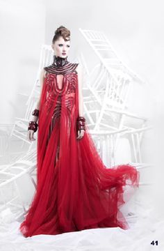 Fire Queen gown.  I like the neck/shoulder piece a lot.