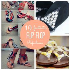 10 Fantastic Flip Flop Refashions   Soooo doing this!!