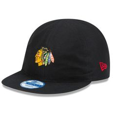 2976ed6dc1f7c Infant New Era Black Chicago Blackhawks Reversible Top Flip Hat