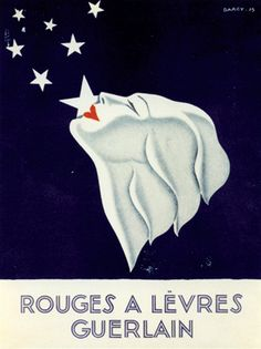 Beautiful vintage poster from Guerlain....