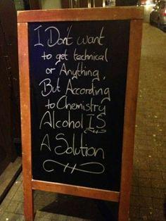 El alcohol es una solución.