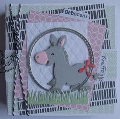 Suzanna: Be Challenged. Animal Themed Birthday Party, Birthday Party Themes, Die Cut Cards, Marianne Design, Animal Cards, Punch Art, Kids Cards, Making Ideas, Card Making