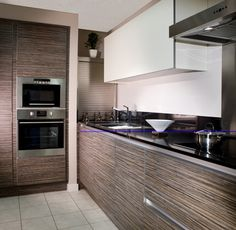 K che in schwarz k cheninsel for Kitchen ideas zebrano