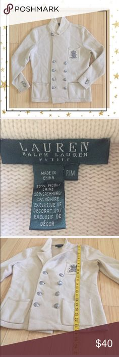 Ralph Lauren Wool/Cashmere Blazer (Gy23B8R) Petite Off white blaze. 3 pockets. Wool/ cashmere. No stains or tears . Offers welcome. No trade Ralph Lauren Jackets & Coats Blazers