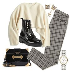 """Untitled #22673"" by florencia95 ❤ liked on Polyvore featuring Prada, Uniqlo and Burberry"