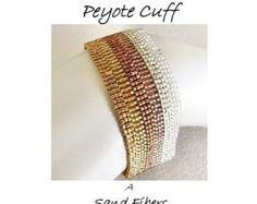 Peyote Pattern Intertwined Peyote Cuff / Peyote by SandFibers