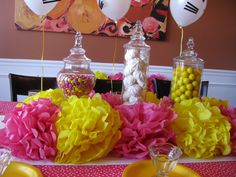 great way to fill out a candy buffet with more pop of color-- how SWEET it is to be a G-Phi!