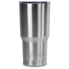 30oz. #RTIC Tumblers are stainless steel, double wall vacuum insulated. Keep your drinks ice cold longer - works great for hot beverages. The crystal clear lid l...