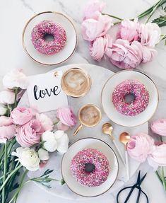 Coffee and doughnuts #coffee #doughnuts #delicious