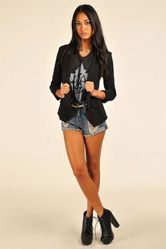 Lighten Up Blazer - Black