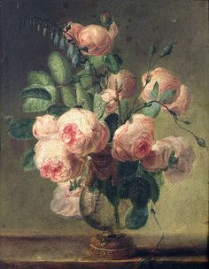 Pierre Joseph Redoute, Vase of Flowers