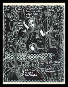 Alice in Wonderland artwork by Dame Darcy