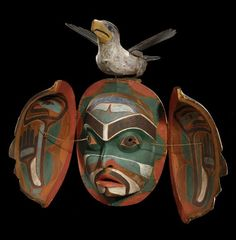 kwakiutl transformation masks   Kwakwaka'wakw (Kwakiutl), transformation mask, ca 1880, Cape Mudge ...