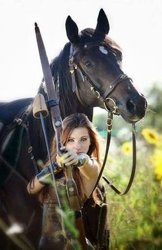 Archer and her horse