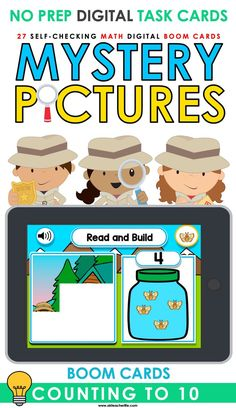 Counting to 10 Boom Cards Freebie! Students count bugs, tallies and compare numbers using more or less.