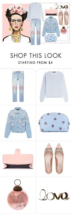 """""""Pink + Blue"""" by cherieaustin ❤ liked on Polyvore featuring Bliss and Mischief, IRIS VON ARNIM, Anouki, Miu Miu, Gucci and PBteen"""