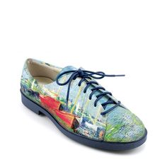 """LADIES GOLF FASHION ICON JOLIE-471 Golf/Walking Shoe """"Red Boats"""" by Claude Monet. Interested in hosting an ICON Trunk Show at your Country Club? contact: marla@iconshoes.com"""