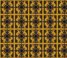 Hufflepuff Pattern fabric by sharksvspenguins on Spoonflower - custom fabric