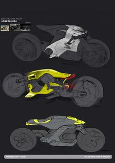 """Electric """"CAFE"""" RACER on Behance"""