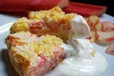 Recept: Rebarborový koláč | Nebíčko v papuľke