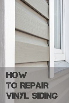 How to Repair Vinyl Siding