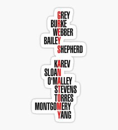 greys anatomy Greys Anatomy stickers featuring millions of original designs created by independent artists. Frases Greys Anatomy, Greys Anatomy Logo, Greys Anatomy Episodes, Greys Anatomy Funny, Greys Anatomy Characters, Greys Anatomy Cast, Grey Anatomy Quotes, Tumblr Stickers, Cute Stickers