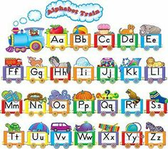 Teacher Created Resources Alphabet Train Bulletin Board Display Set (4421):Amazon:Office Products