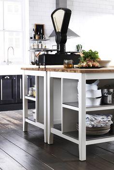 Ikea - kitchen island with storage.
