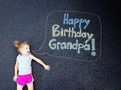 chalk birthday card | card for grandparent | happy birthday grandpa
