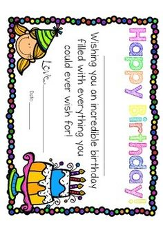 Free these are birthday certificates for any teacher to give to birthday certificates yadclub Image collections